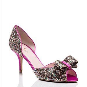 Kate Spade Sela Heels Multi Glitter!